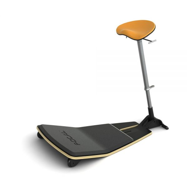 Safco Locus Leaning Seat by Focal Upright - Black/Citrus