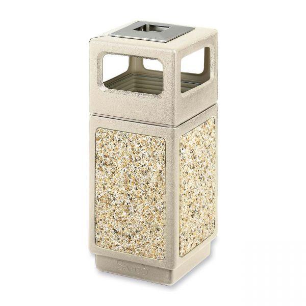 Safco Canmeleon 15 Gallon Trash Can With Ashtray