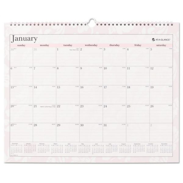 AT-A-GLANCE Sorbet Monthly Wall Calendar