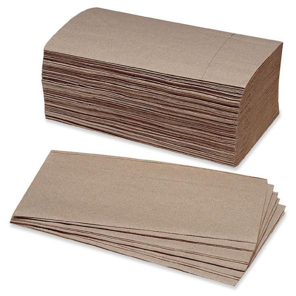 "Skilcraft Singlefold Paper Towels, 5.38"" x 9.25"", 250 Towel/ Pack, 16 Packs/ Box"