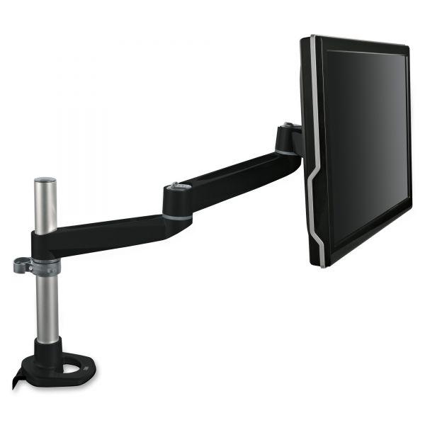 3M Dual-Swivel Monitor Arm, 4 1/2 x 19 1/2, Black/Gray