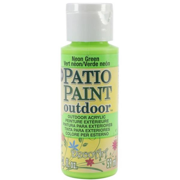 Deco Art Neon Green Patio Paint