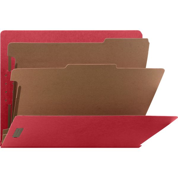 Nature Saver End Tab Bright Red Classification Folders