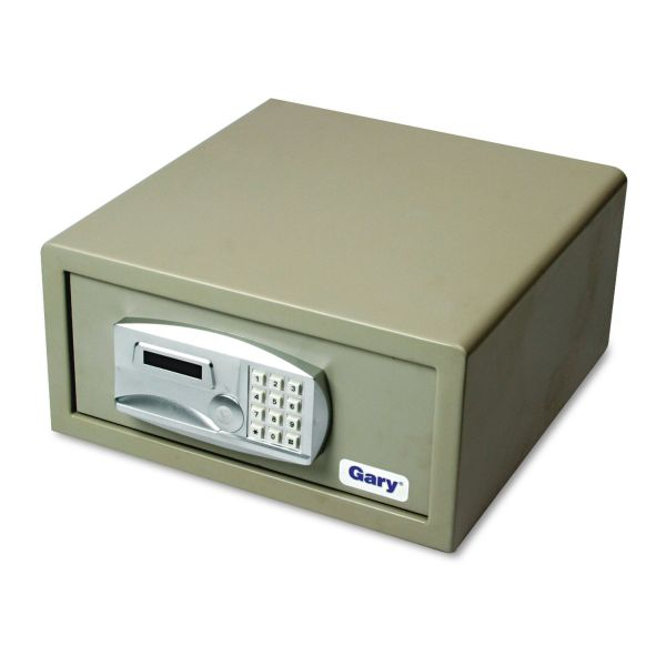 Gary Laptop Size Electronic Safe with Key, 34lbs, 1.2 Cu. Ft., Light Gray