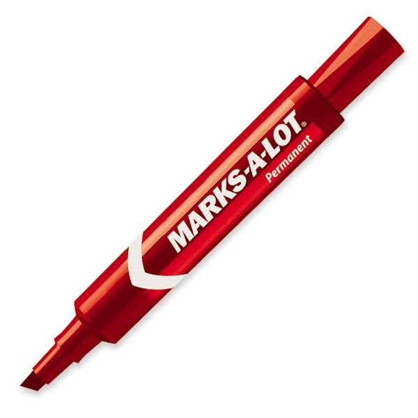Marks-A-Lot Red Permanent Markers