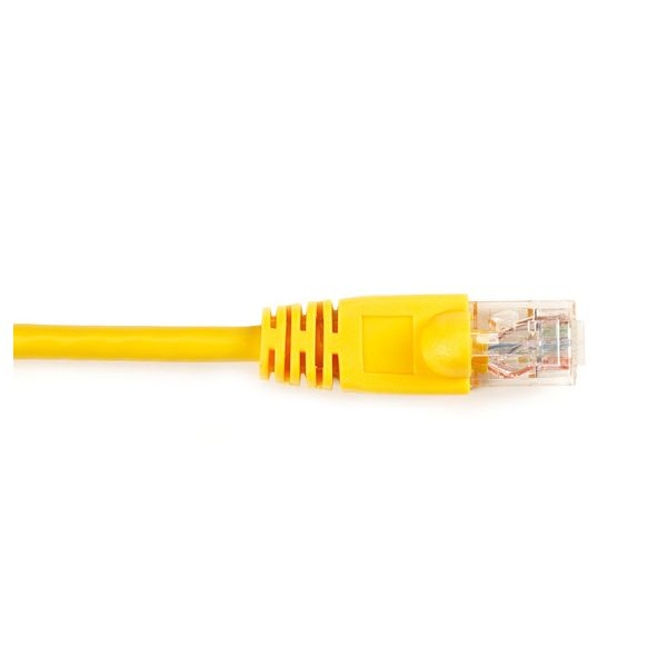 Black Box CAT6 Value Line Patch Cable, Stranded, Yellow, 1-ft. (0.3-m)