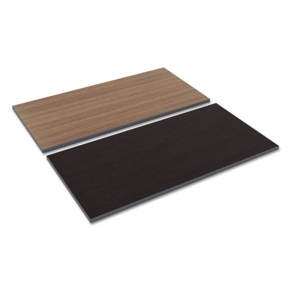 Alera Reversible Laminate Table Top, Rectangular, 47 5/8w x 23 5/8d, Espresso/Walnut