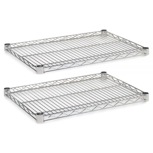 Alera Industrial Wire Shelving Extra Wire Shelves, 24w x 18d, Silver, 2 Shelves/Carton