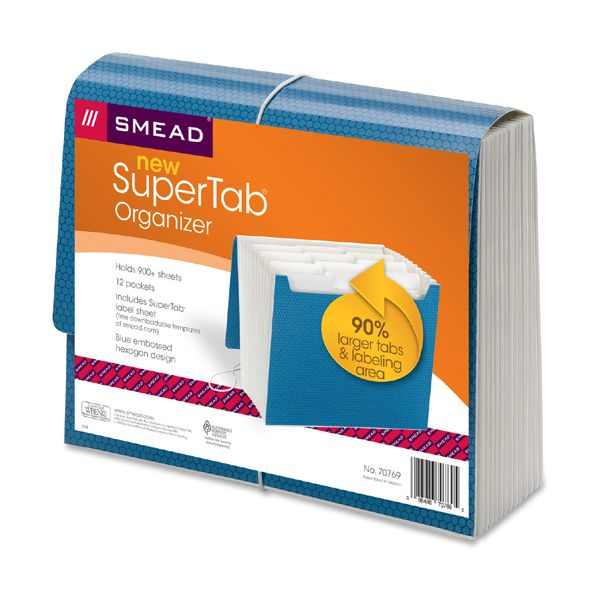 Smead SuperTab Expanding File