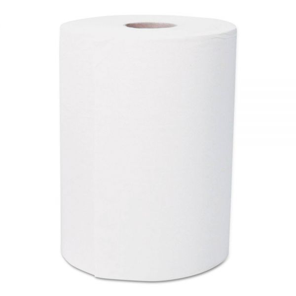 "GEN Hardwound Roll Towels, 1-Ply, White, 8"" x 250 ft, 12 Rolls/Carton"