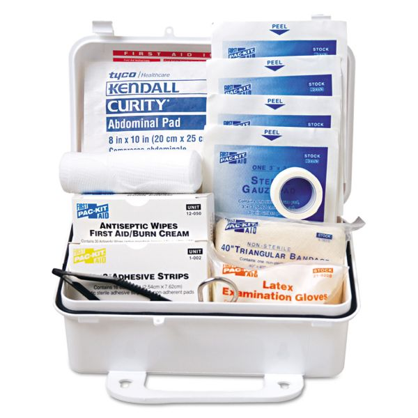 Pac-Kit ANSI #10 Weatherproof First Aid Kit, 57-Pieces, Plastic Case