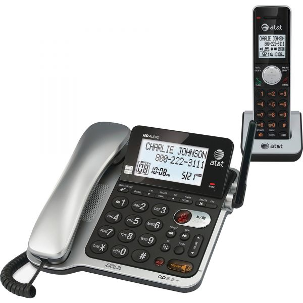 AT&T CL84102 DECT 6.0 Corded/Cordless Telephone Answering System
