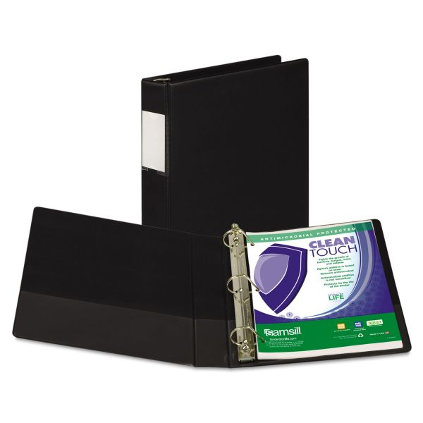 "Samsill Antimicrobial Locking 1 1/2"" 3-Ring Binder"