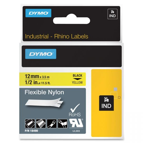 Dymo IND Rhino Industrial Permanent Nylon Label Tape