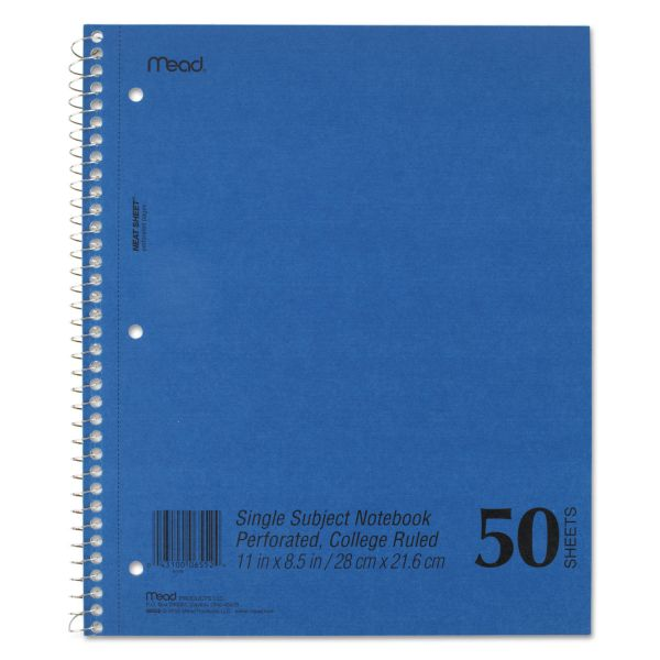 Mead College Ruled Notebook