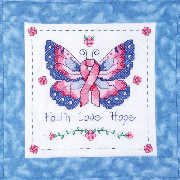 "Stamped Cross Stitch Quilt Blocks 15""X15"" 6/Pkg"