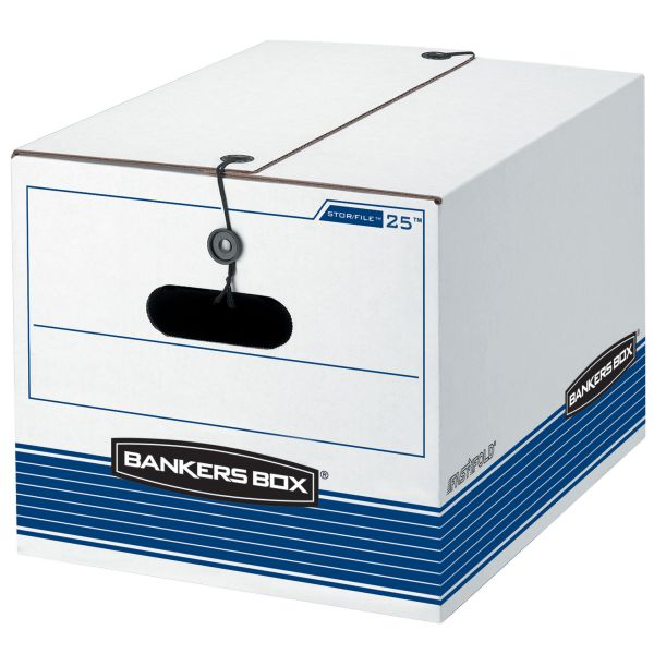Bankers Box Stor/File Heavy-Duty String & Button Storage Boxes