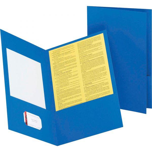 Oxford Light Blue Two Pocket Folders