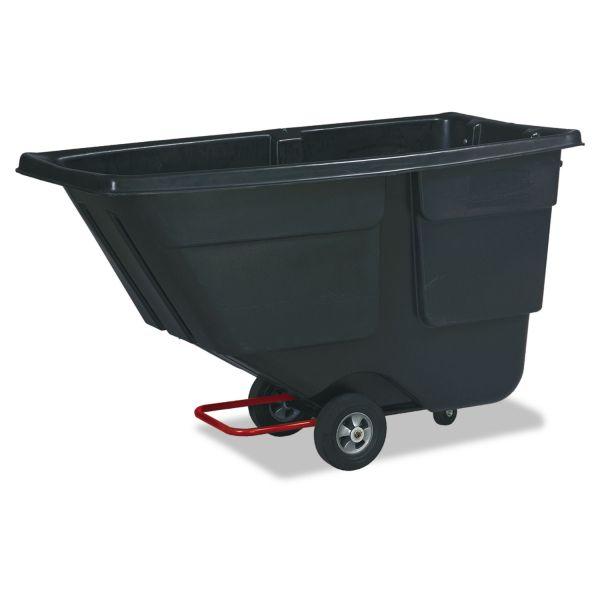 Rubbermaid Rotomolded Tilt Truck, Plastic, 600 lb. Capacity, Black