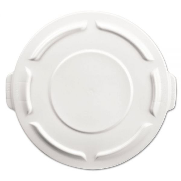 Rubbermaid Commercial Round Brute Flat Top Lid, 19 7/8 x 1 4/5, White