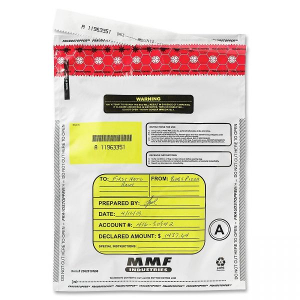 MMF Industries FraudStopper Single-Pouch Deposit Bags
