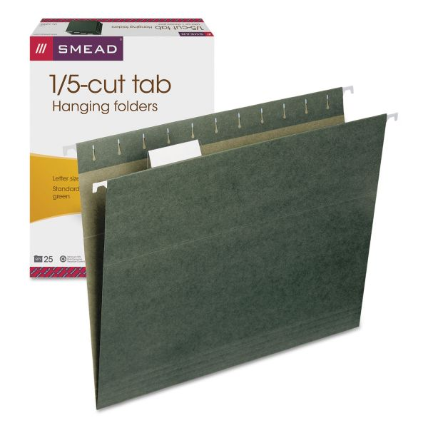 Smead 64055 Standard Green Hanging File Folders