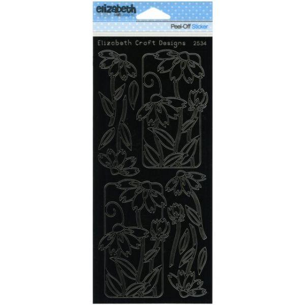 Flowers In Frames 2 Peel-Off Stickers