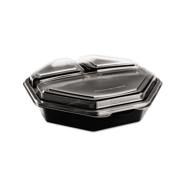 SOLO Cup Company OctaView Hinged-Lid Takout Deli Containers