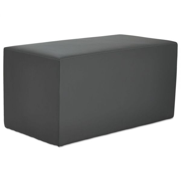 Alera Alera WE Series Collaboration Seating, Rectangle Bench, 36 x 18 x 18, Slate
