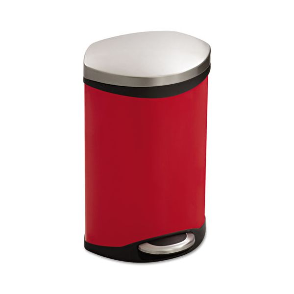 Safco Step-On Medical Receptacle, 3gal, Red