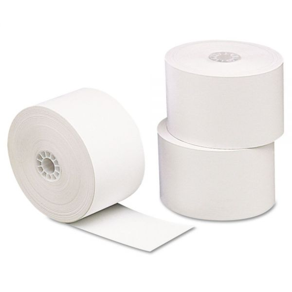 "Universal Single-Ply Thermal Paper Rolls, 1 3/4"" x 230 ft, White, 10/Pack"