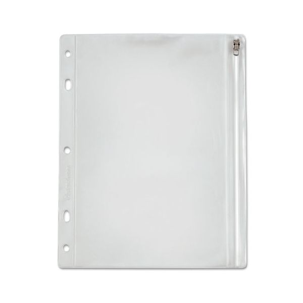 Oxford Zippered Ring Binder Pocket, 10 1/2 x 8, Clear