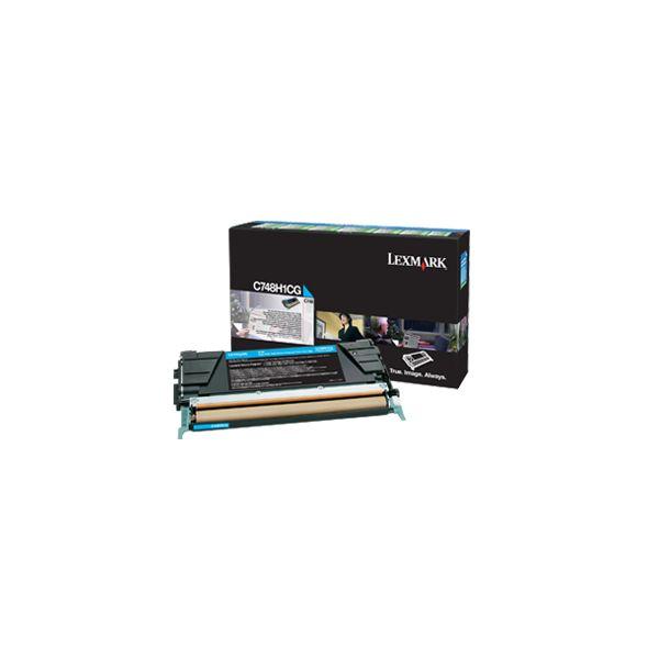 Lexmark C748H1CG Cyan High Yield Return Program Toner Cartridge