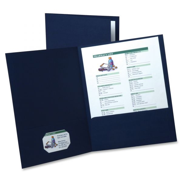 Oxford Navy Blue Two Pocket Folders
