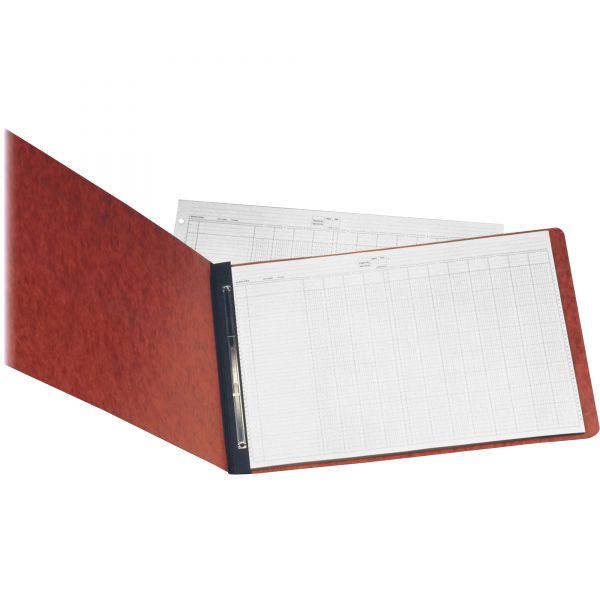 """Oxford Pressboard Report Cover, 8 1/2"""", 2 Prong Fastener, 11 x 17, 3"""" Capacity, Red"""