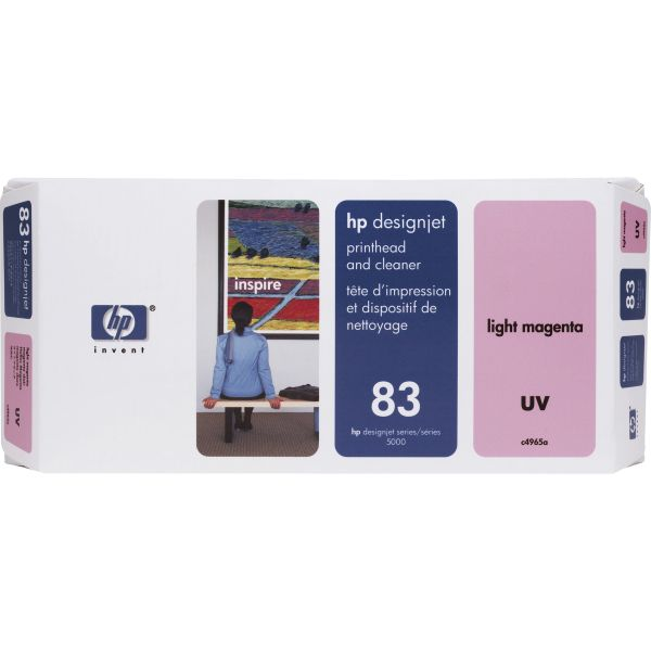 HP 83, (C4965A) UV Light Magenta Printhead and Cleaner