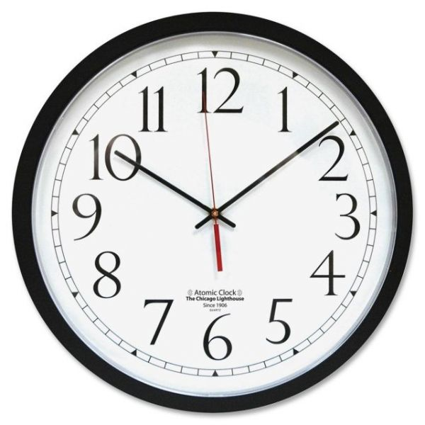 Chicago Lighthouse Contemporary Atomic Wall Clock