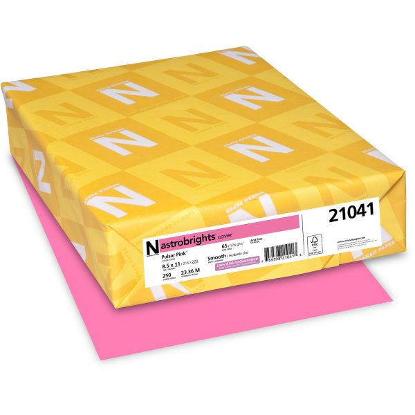 Neenah Paper Astrobrights Pulsar Pink Colored Card Stock
