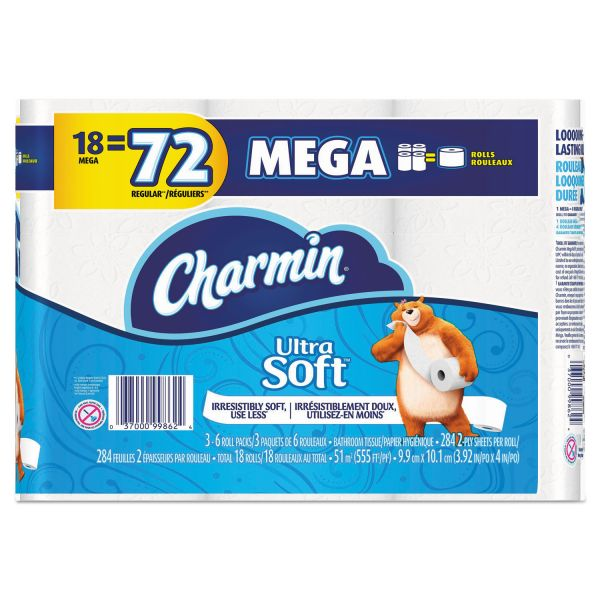 Charmin Toilet Paper On Sale: Charmin Ultra Soft Toilet Paper, 2-Ply, White, 4 X 3.92