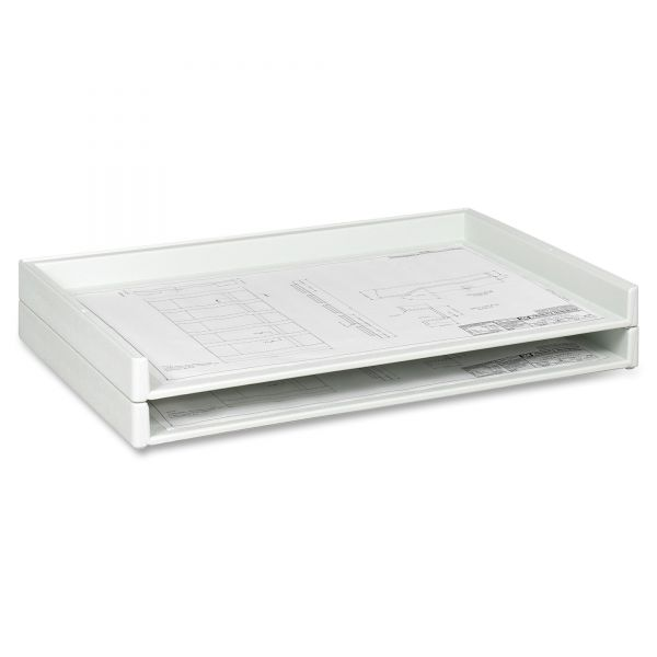 Safco Heavy-duty Plastic Stacking Trays