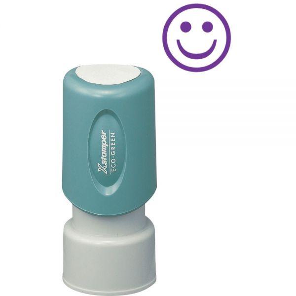 Xstamper Pre-Inked Specialty Smiley Face Stamp