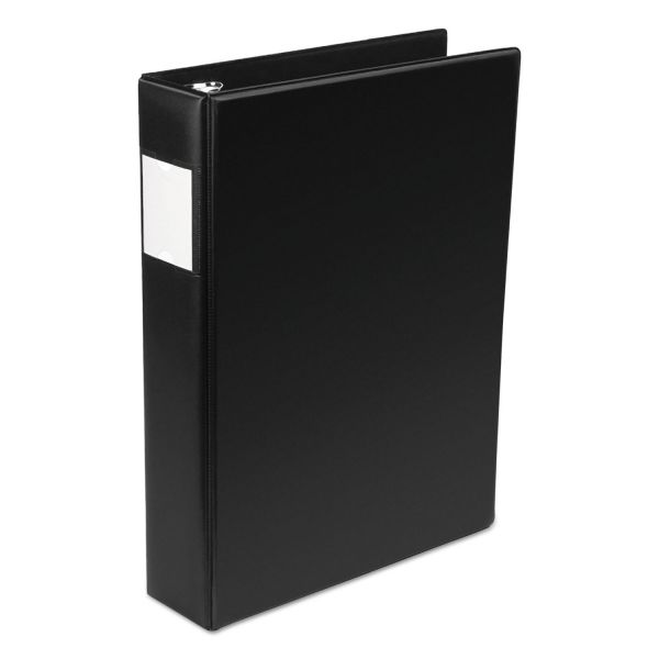 "Wilson Jones Legal Size Vinyl Round Ring Binder, 2"" Cap, 14 x 8 1/2, Black"