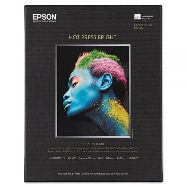 Epson Hot Press Bright Fine Art Paper
