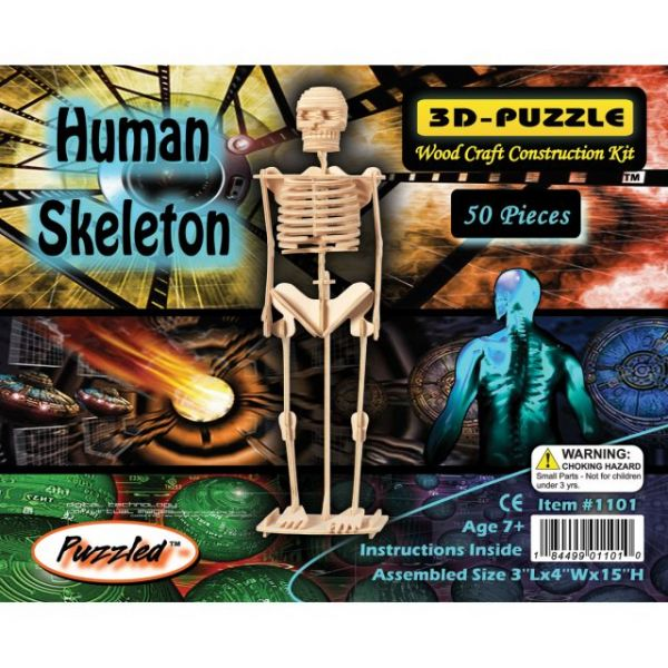 "3D Jigsaw Puzzle 50 Pieces 3""X4""X15"""
