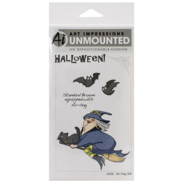 "Art Impressions Halloween Cling Rubber Stamp Set 7""X4"""