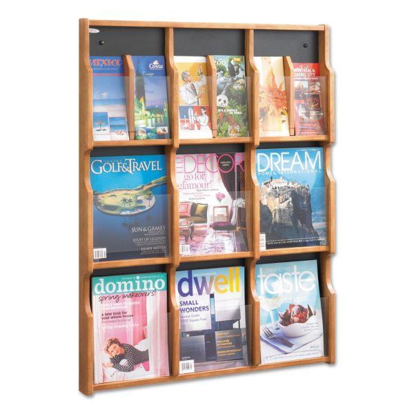 Safco Expose 9-Pocket Magazine/Pamphlet Display Rack