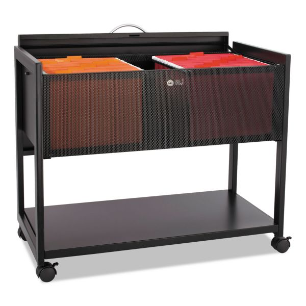 Safco Top Locking Mesh Mobile Tub File Cart