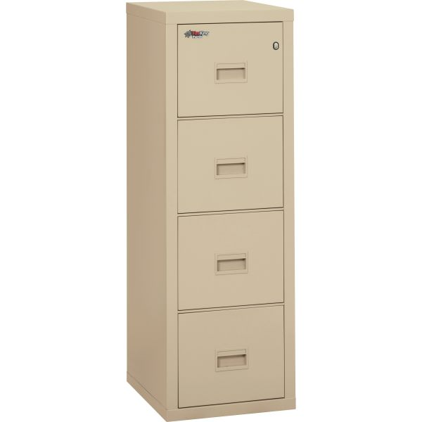 FireKing Turtle Four-Drawer File, 17 3/4w x 22 1/8d, UL Listed 350° for Fire, Parchment