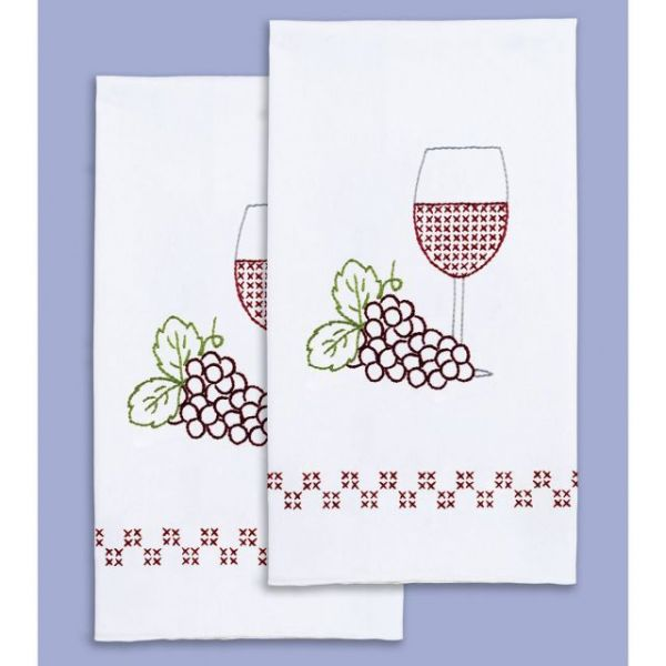 Jack Dempsey Stamped White Decorative Hand Towels