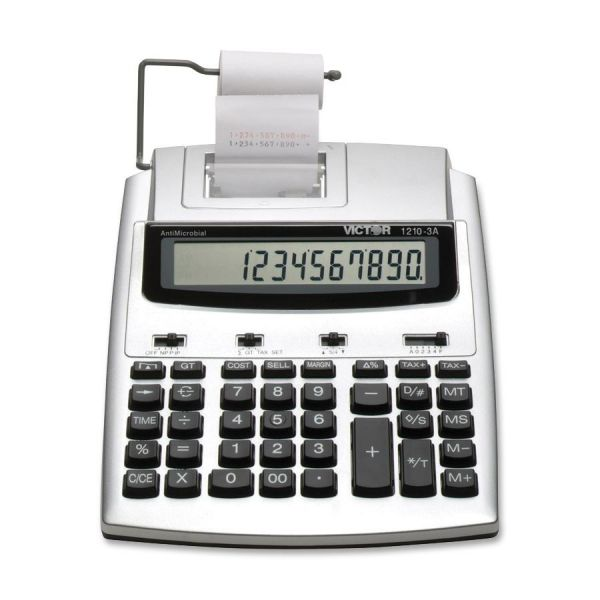Victor 1210-3A Commercial Printing Calculator with Built-In AntiMicrobial Protection
